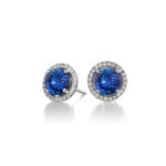 Tanzanite-International-Round-Halo-Earrings